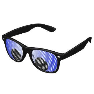 Solamente fondo del color - pendiente azul lentes de sol