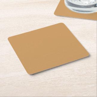 Solamente fondo fresco de color caqui del color posavasos desechable cuadrado