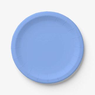 Solamente fondo magnífico azul claro del color plato de papel 17,78 cm