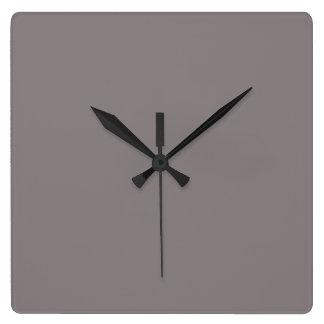 Solamente fondo magnífico gris de aluminio del reloj cuadrado