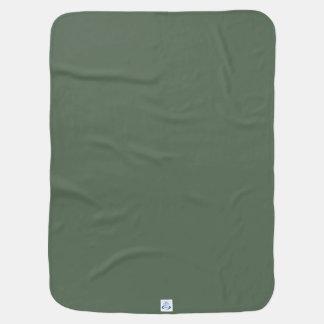 Solamente fondo magnífico verde del color sólido mantas de bebé