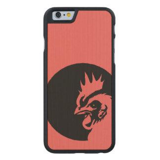 Solamente gallo principal coralino funda de iPhone 6 carved® de arce