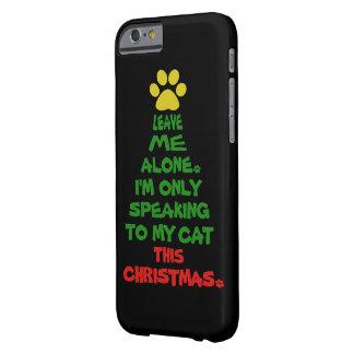 Solamente hablando a mi gato este navidad funda barely there iPhone 6