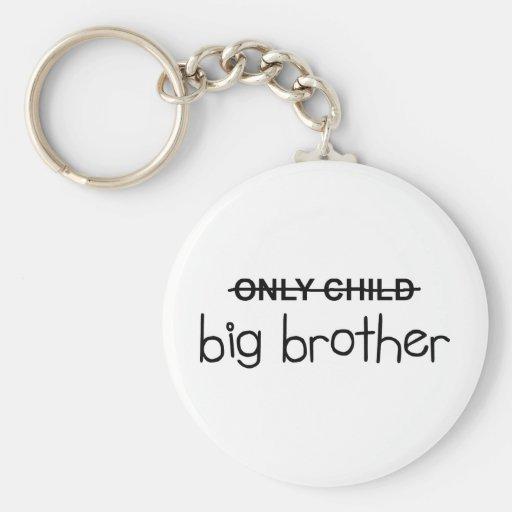 Solamente hermano mayor llaveros personalizados
