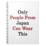 Solamente la gente de Japón puede llevar esto Libros De Apuntes