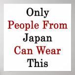 Solamente la gente de Japón puede llevar esto Impresiones