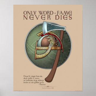 Solamente la Palabra-Fama nunca muere el poster