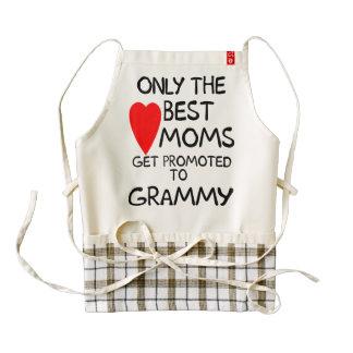 Solamente las mejores mamáes consiguen promovidas delantal zazzle HEART