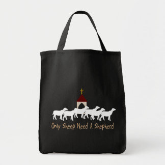 Solamente las ovejas necesitan al pastor bolsa tela para la compra