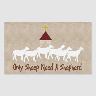 Solamente las ovejas necesitan al pastor rectangular pegatina