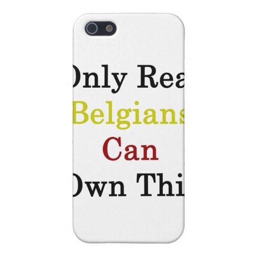 Solamente los belgas reales pueden poseer esto iPhone 5 coberturas