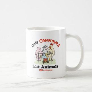 Solamente los caníbales comen la taza de los anima