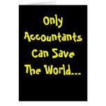 ¡Solamente los contables pueden ahorrar el mundo!