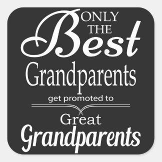 Solamente los mejores abuelos pegatina cuadrada