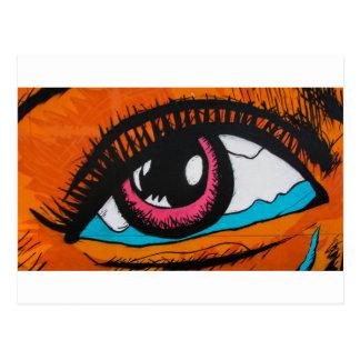 Solamente los ojos pueden decir postal