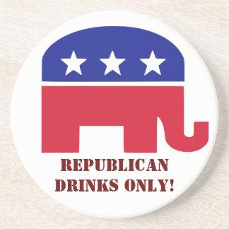 Solamente los republicanos pueden beber en mi casa portavasos