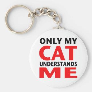 Solamente mi gato me entiende llavero redondo tipo pin