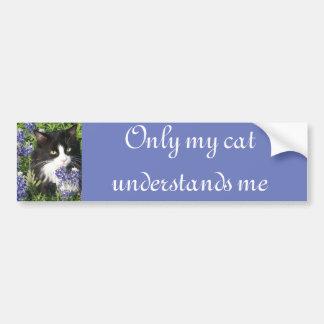 Solamente mi gato me entiende pegatina para el pegatina para auto
