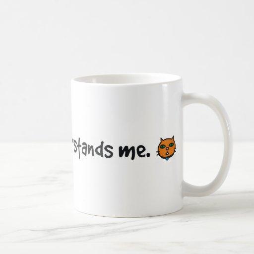 solamente mi gato me entiende tazas de café