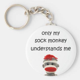 Solamente mi mono del calcetín me entiende llaveros personalizados