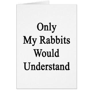 Solamente mis conejos entenderían tarjeta de felicitación
