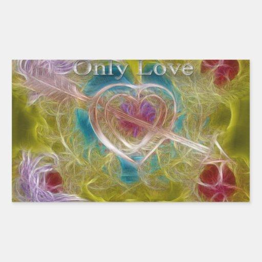 Solamente pegatina del amor
