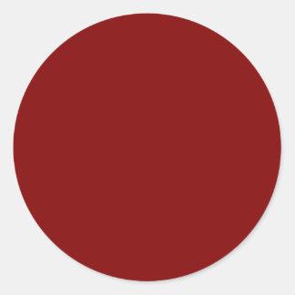 Solamente pegatinas del color sólido del vino rojo etiquetas redondas