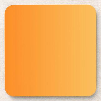 SOLAMENTE pendientes del COLOR - naranja Posavasos De Bebidas