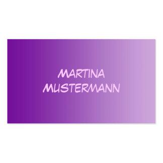 SOLAMENTE pendientes del COLOR - púrpura + rosa Tarjetas De Visita