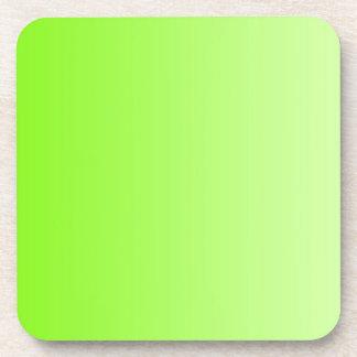SOLAMENTE pendientes del COLOR - verde del neón Posavasos De Bebidas