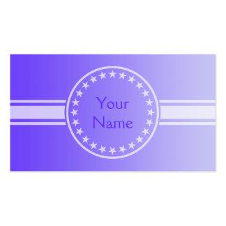 SOLAMENTE pendientes del COLOR - violeta + su Tarjetas De Visita