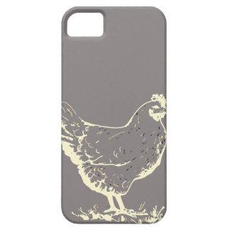 Solamente silueta gris de aluminio del pollo funda para iPhone SE/5/5s