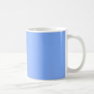 Solamente tazas elegantes azul claro del color
