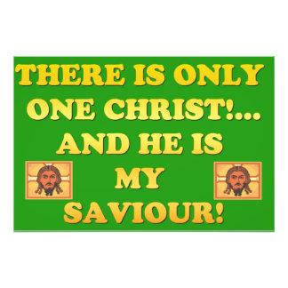 ¡Solamente un Cristo! ¡Y él es mi salvador! Fotografía