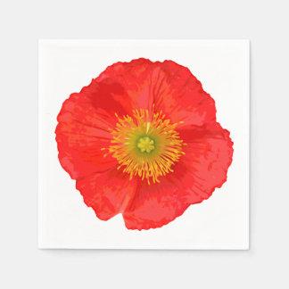 Solamente un flor de la amapola + su texto y ideas servilletas desechables