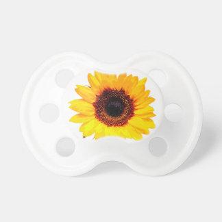 Solamente un flor del girasol + su texto y ideas chupetes para bebes