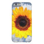 Solamente un flor del girasol + su texto y ideas funda de iPhone 6 barely there