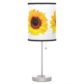 Solamente un flor del girasol + su texto y ideas lámpara de mesilla de noche