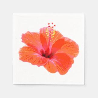 Solamente un flor del hibisco + su texto y ideas servilletas de papel