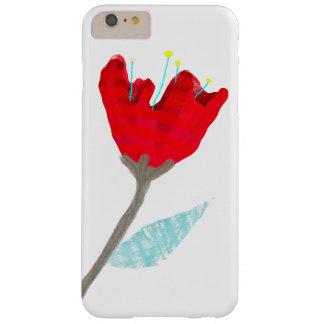 Solamente una flor roja solamente funda para iPhone 6 plus barely there