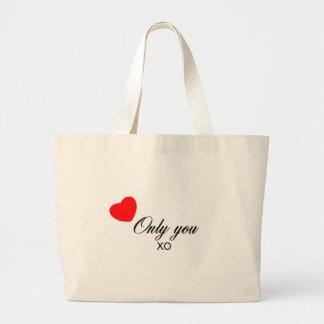 Solamente usted productos bolsa de tela grande