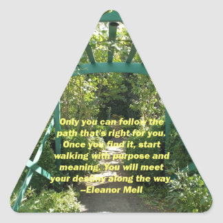 Solamente usted puede pegatina triangular