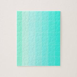Solamente verde de mar del color Ombre Rompecabezas