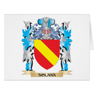 Solana Coat of Arms - Family Crest Large Greeting Card