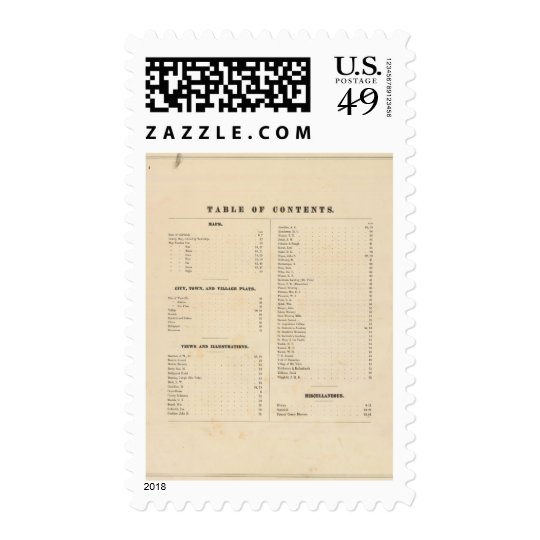 Solano County atlas map Postage