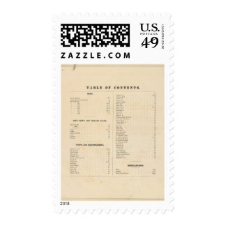 Solano County atlas map Stamp