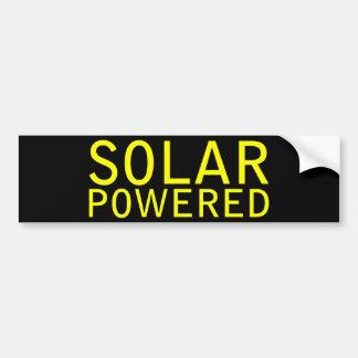 solar accionado etiqueta de parachoque
