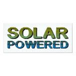 solar accionado invitación 10,1 x 23,5 cm