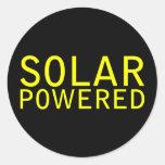 solar accionado pegatinas redondas