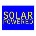 solar accionado tarjetas postales